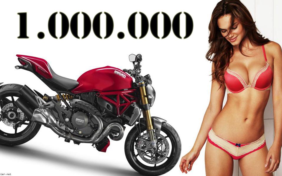 1.000.000 ducati monster 1200s