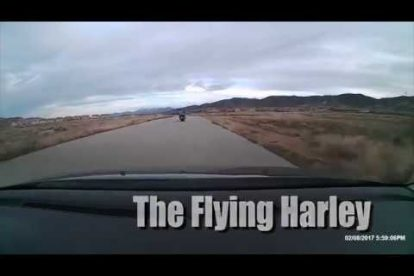 The flying Harley