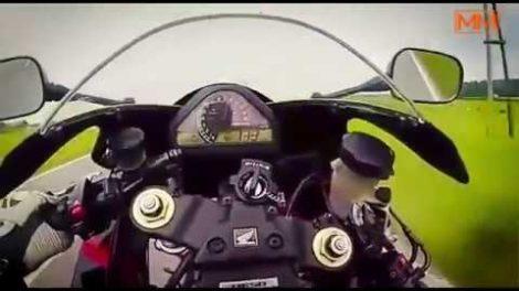 Honda CBR takes revenge on rider