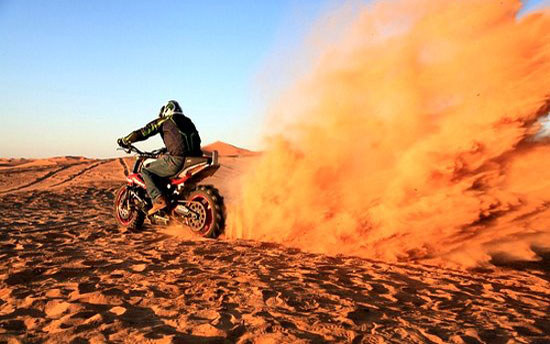 icon sportbike desert ride