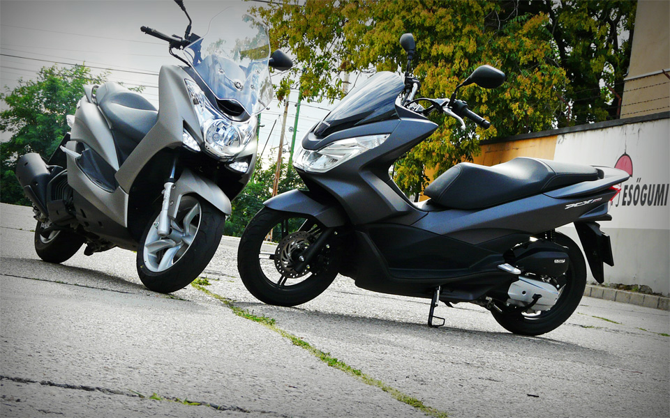 honda pcx150 vs yamaha majesty s 2014